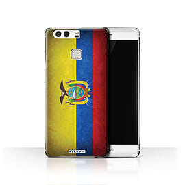 STUFF4 Case/Cover for Huawei P9 / Ecuador/Ecuadorian Design / Flags Collection Mobile phones