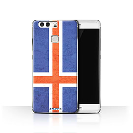 STUFF4 Case/Cover for Huawei P9 / Iceland/Icelandic Design / Flags Collection Mobile phones