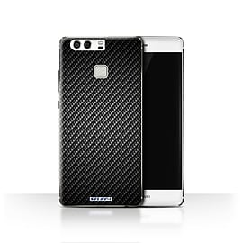 STUFF4 Case/Cover for Huawei P9 / Grey Design / Carbon Fibre Effect/Pattern Collection Mobile phones