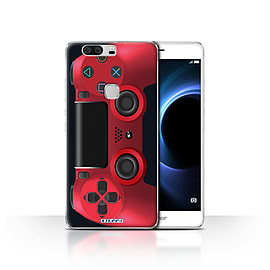 STUFF4 Case/Cover for Huawei Honor V8 / Red Design / Playstation PS4 Collection Mobile phones