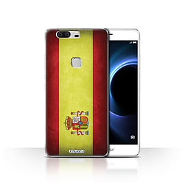 STUFF4 Case/Cover for Huawei Honor V8 / Spain/Spanish Design / Flags Collection Mobile phones