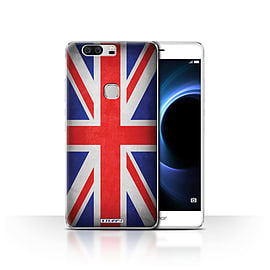 STUFF4 Case/Cover for Huawei Honor V8 / Great Britain/British Design / Flags Collection Mobile phones