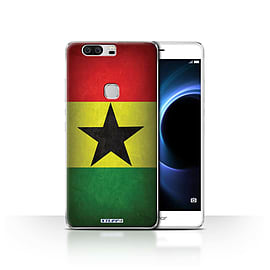 STUFF4 Case/Cover for Huawei Honor V8 / Ghana/Ghanaian Design / Flags Collection Mobile phones