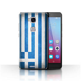 STUFF4 Case/Cover for Huawei Honor 5X/GR5 / Greece/Greek Design / Flags Collection Mobile phones