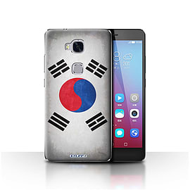 STUFF4 Case/Cover for Huawei Honor 5X/GR5 / Korea/Korean Design / Flags Collection Mobile phones