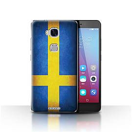 STUFF4 Case/Cover for Huawei Honor 5X/GR5 / Sweden/Swedish Design / Flags Collection Mobile phones