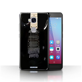 STUFF4 Case/Cover for Huawei Honor 5X/GR5 / Black Electirc Design / Guitar Collection Mobile phones