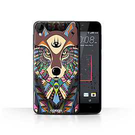 STUFF4 Case/Cover for HTC Desire 825 / Wolf-Colour Design / Aztec Animal Design Collection Mobile phones