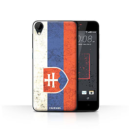 STUFF4 Case/Cover for HTC Desire 825 / Slovakia/Slovakian Design / Flags Collection Mobile phones