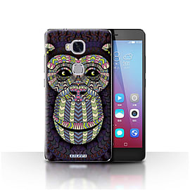 STUFF4 Case/Cover for Huawei Honor 5X/GR5 / Monkey-Colour Design / Aztec Animal Design Collection Mobile phones