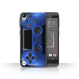 STUFF4 Case/Cover for HTC Desire 630 / Blue Design / Playstation PS4 Collection Mobile phones