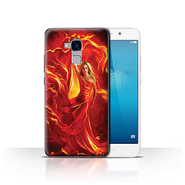 Official Elena Dudina Case/Cover for Huawei Honor 5c / Fire Dress Design / Dragon Reptile Collection Mobile phones