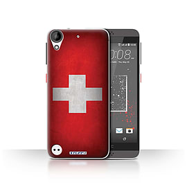STUFF4 Case/Cover for HTC Desire 530 / Switzerland/Swiss Design / Flags Collection Mobile phones