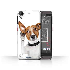 STUFF4 Case/Cover for HTC Desire 530 / Listening Dog Design / Funny Animals Collection Mobile phones