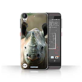 STUFF4 Case/Cover for HTC Desire 530 / Rhino Design / Wildlife Animals Collection Mobile phones