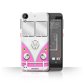 STUFF4 Case/Cover for HTC Desire 630 / Pink Design / VW Camper Van Collection Mobile phones