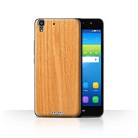 STUFF4 Case/Cover for Huawei Y6 / Pine Design / Wood Grain Effect/Pattern Collection Mobile phones