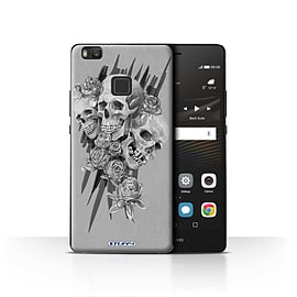 STUFF4 Case/Cover for Huawei P9 Lite / Three Design / Skull Art Sketch Collection Mobile phones