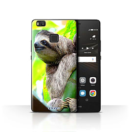 STUFF4 Case/Cover for Huawei P9 Lite / Sloth Design / Wildlife Animals Collection Mobile phones