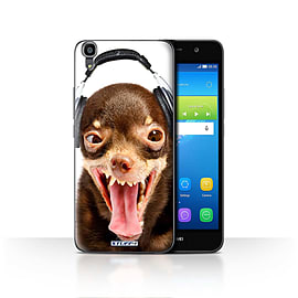 STUFF4 Case/Cover for Huawei Y6 / Ridiculous Dog Design / Funny Animals Collection Mobile phones