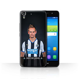 Official Newcastle United FC Case/Cover for Huawei Y6/De Jong Design/NUFC Football Player 15/16 Mobile phones