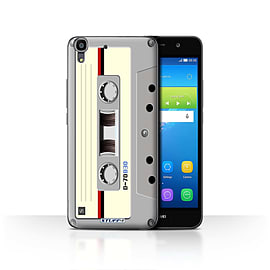 STUFF4 Case/Cover for Huawei Y6 / Compact Cassette Tape Design / Retro Tech Collection Mobile phones