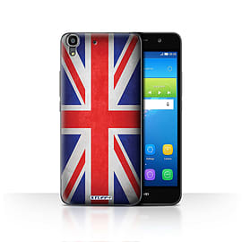 STUFF4 Case/Cover for Huawei Y6 / Great Britain/British Design / Flags Collection Mobile phones