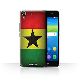 STUFF4 Case/Cover for Huawei Y6 / Ghana/Ghanaian Design / Flags Collection Mobile phones