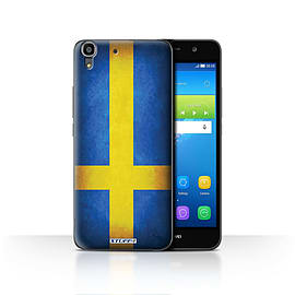 STUFF4 Case/Cover for Huawei Y6 / Sweden/Swedish Design / Flags Collection Mobile phones