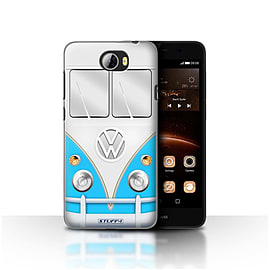 STUFF4 Case/Cover for Huawei Y5II/Y5 2 / Blue Design / VW Camper Van Collection Mobile phones