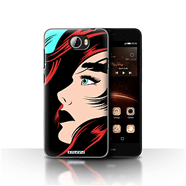 STUFF4 Case/Cover for Huawei Y5II/Y5 2 / Red Hair Design / Comic Illustrated Girls Collection Mobile phones