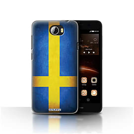 STUFF4 Case/Cover for Huawei Y5II/Y5 2 / Sweden/Swedish Design / Flags Collection Mobile phones