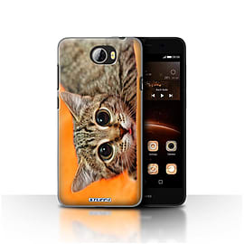 STUFF4 Case/Cover for Huawei Y5II/Y5 2 / Big Eye Cat Design / Funny Animals Collection Mobile phones