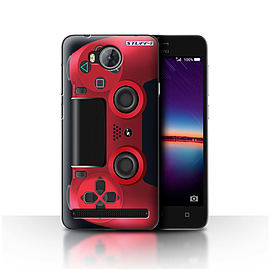 STUFF4 Case/Cover for Huawei Y3II/Y3 2 / Red Design / Playstation PS4 Collection Mobile phones