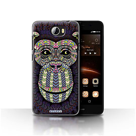 STUFF4 Case/Cover for Huawei Y5II/Y5 2 / Monkey-Colour Design / Aztec Animal Design Collection Mobile phones