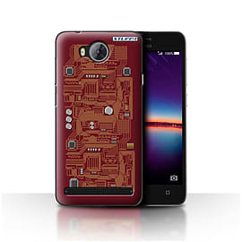 STUFF4 Case/Cover for Huawei Y3II/Y3 2 / Red Design / Circuit Board Collection Mobile phones