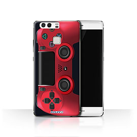 STUFF4 Case/Cover for Huawei P9 / Red Design / Playstation PS4 Collection Mobile phones