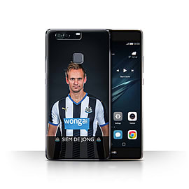 Official Newcastle United FC Case/Cover for Huawei P9 Plus/De Jong Design/NUFC Football Player 15/16 Mobile phones