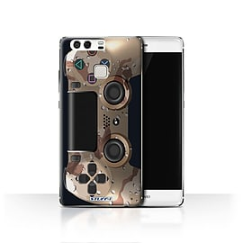 STUFF4 Case/Cover for Huawei P9 / Desert Camouflage Design / Playstation PS4 Collection Mobile phones
