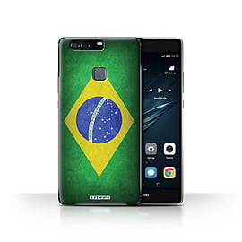 STUFF4 Case/Cover for Huawei P9 Plus / Brazil/Brazilian Design / Flags Collection Mobile phones