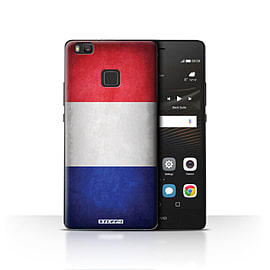 STUFF4 Case/Cover for Huawei P9 Lite / France/French Design / Flags Collection Mobile phones