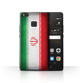 STUFF4 Case/Cover for Huawei P9 Lite / Iran/Iranian Design / Flags Collection Mobile phones