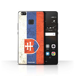STUFF4 Case/Cover for Huawei P9 Lite / Slovakia/Slovakian Design / Flags Collection Mobile phones
