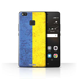 STUFF4 Case/Cover for Huawei P9 Lite / Ukraine/Ukrainian Design / Flags Collection Mobile phones