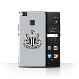Official Newcastle United FC Case/Cover for Huawei P9 Lite/Mono/Grey Design/NUFC Football Crest Mobile phones