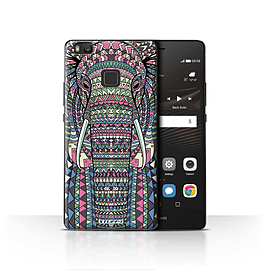STUFF4 Case/Cover for Huawei P9 Lite / Elephant-Colour Design / Aztec Animal Design Collection Mobile phones