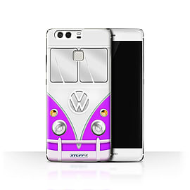 STUFF4 Case/Cover for Huawei P9 / Purple Design / VW Camper Van Collection Mobile phones