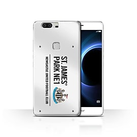 Official Newcastle United FC Case/Cover for Huawei Honor V8/White/Black Design/St James Park Sign Mobile phones