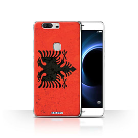 STUFF4 Case/Cover for Huawei Honor V8 / Albania/Albanian Design / Flags Collection Mobile phones