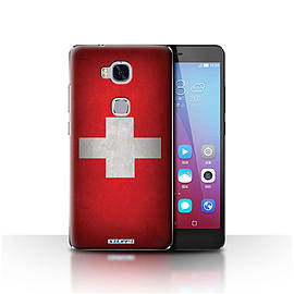 STUFF4 Case/Cover for Huawei Honor 5X/GR5 / Switzerland/Swiss Design / Flags Collection Mobile phones